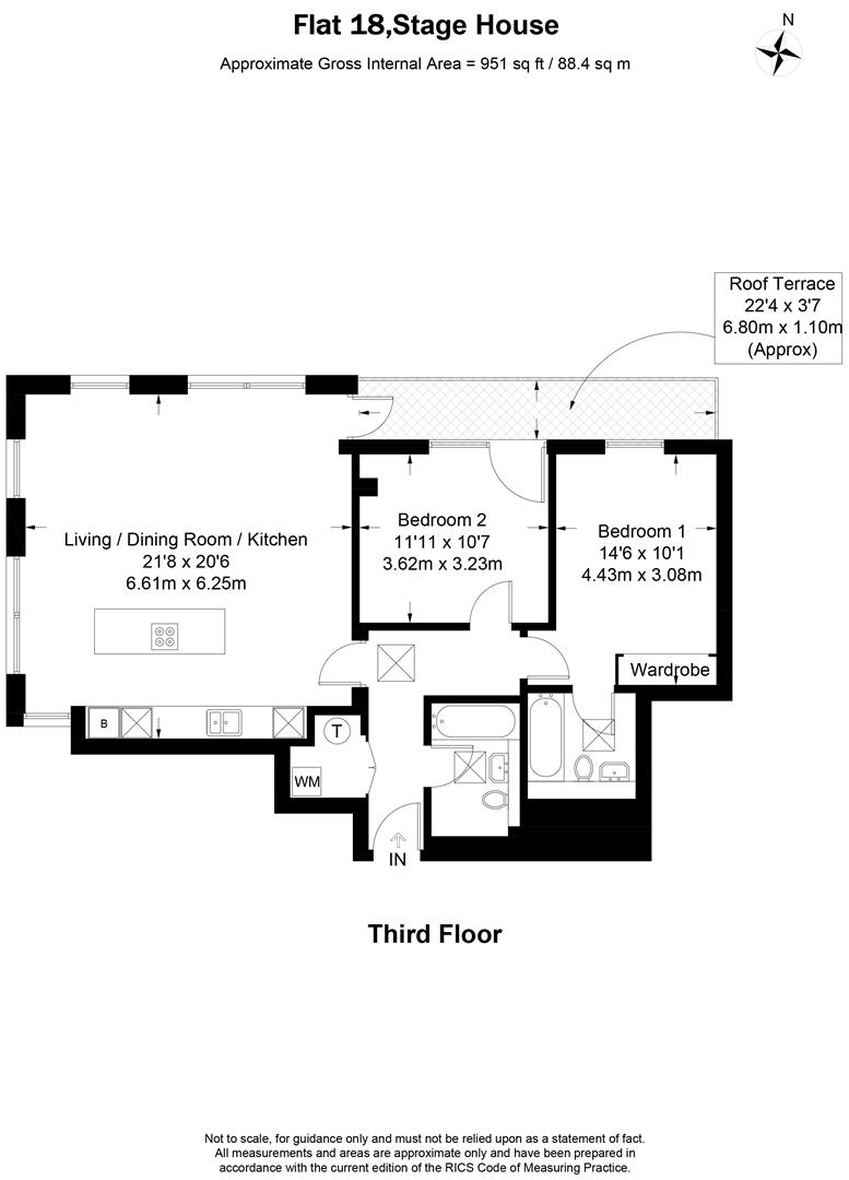 Floorplan for Stage House, Montague Road, Wimbledon